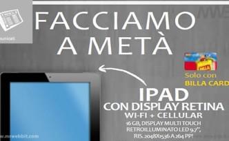 billa offre ipad di 4 generazione a meta prezzo