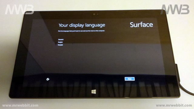 windows 8 surface 32Gb prima accensione