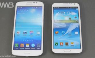 Sfida fra Samsung Galaxy Mega 5.8 e Samsung Galaxy Note II