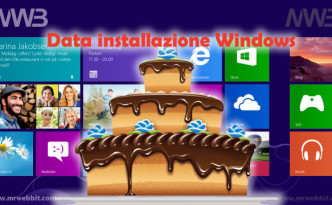 data installazione di windows