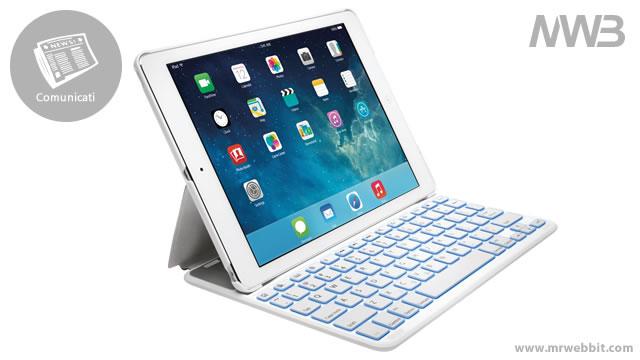 cover e tastiera per trasformare ipad in un notebook protetto piegato