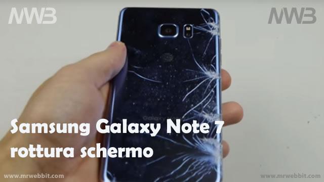 Samsung Galaxy Note 7 rottura vetro frontale e posteriore