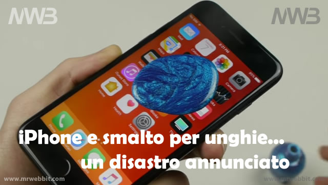 iphone e smalto per unghie un disastro ripulire tutto